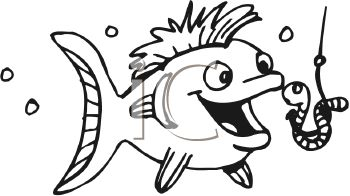 Fish on a hook clipart » Clipart Station.