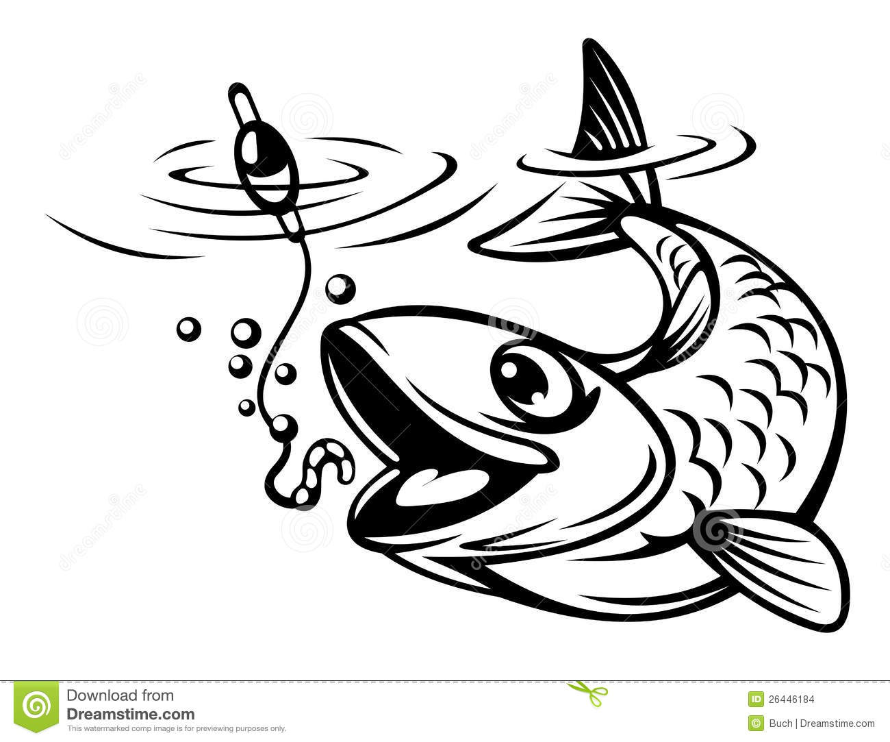 Fish On Hook Clipart.
