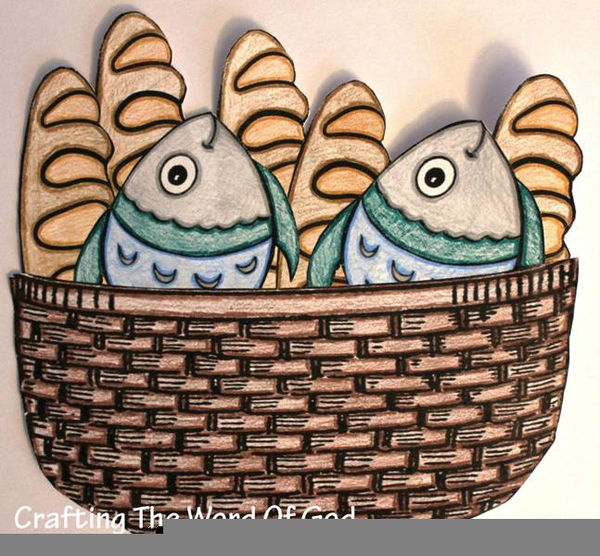Christian Clipart Loaves Fishes.