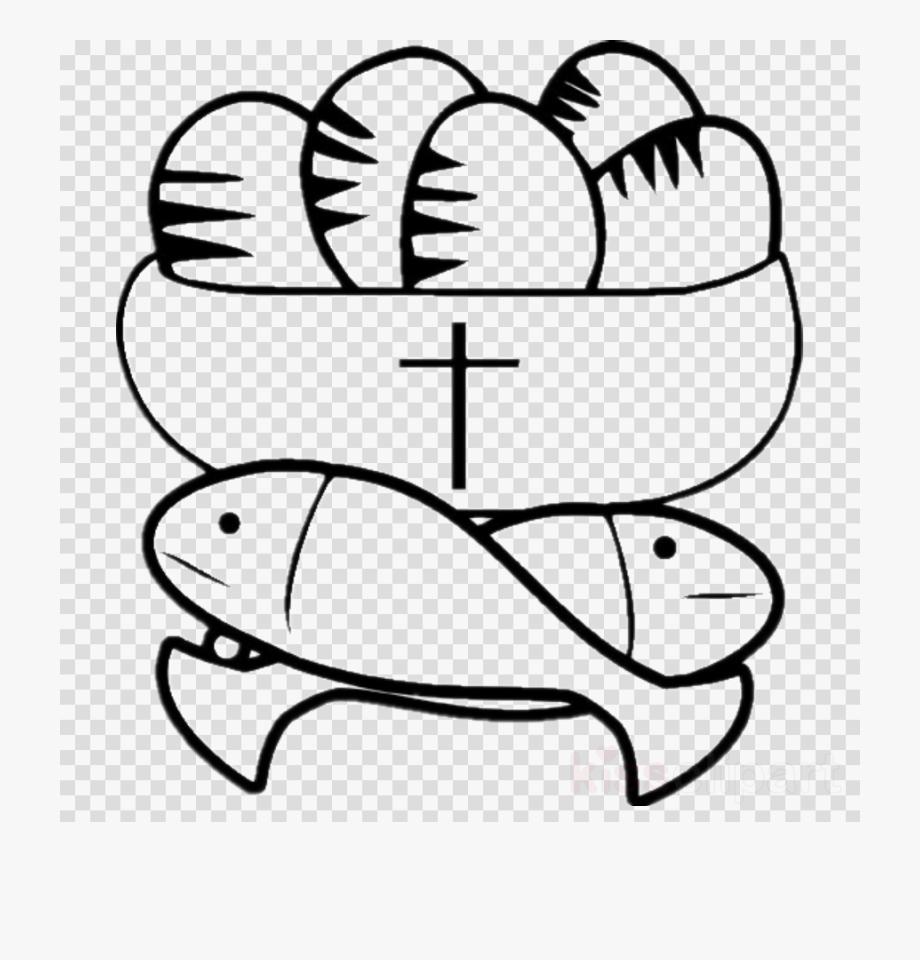 五 饼 二 鱼 Clipart Feeding The Multitude Loaf Bread.