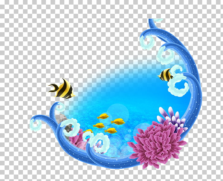 Banner Poster, Fish,ocean, yellow fishes PNG clipart.
