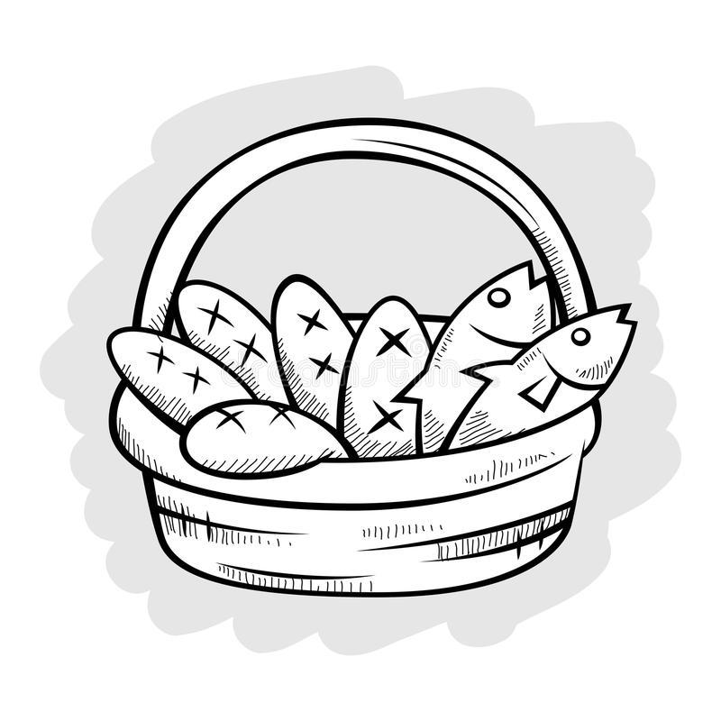Fish Basket Stock Illustrations.