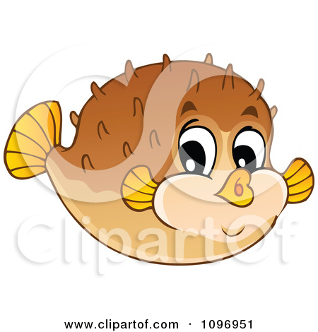 Cartoon of River Fish Waters Splashes and a Fishing Bob.