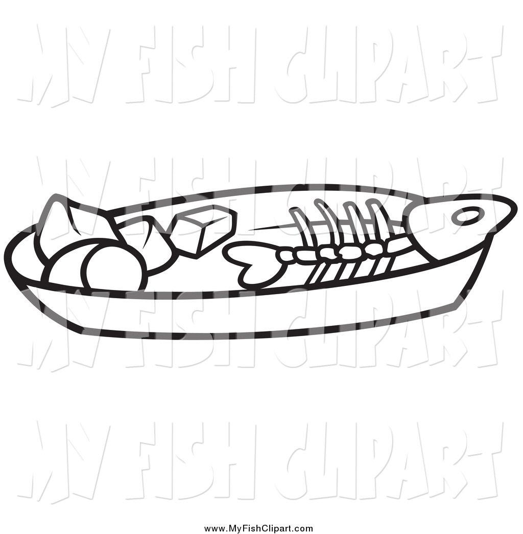 Fish Bone Clipart.