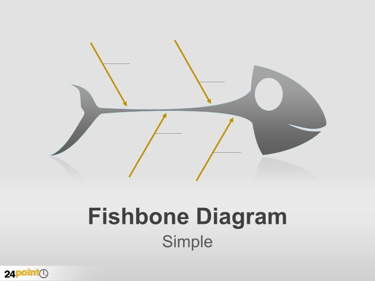 Fishbone diagram clip art.