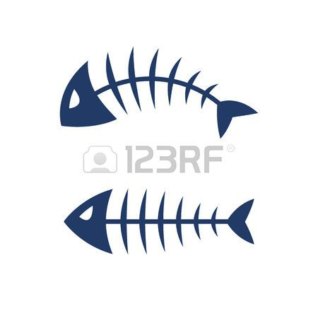fish: Fish bone skeleton symbol vector icon design. Illustration.