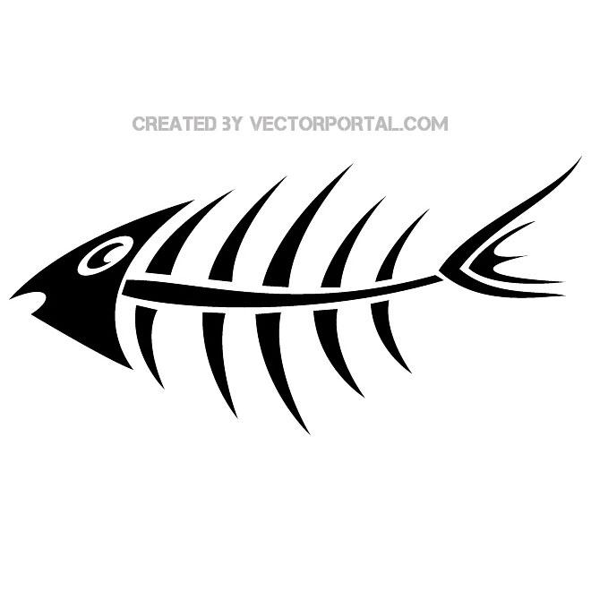 Fish bone vector image.