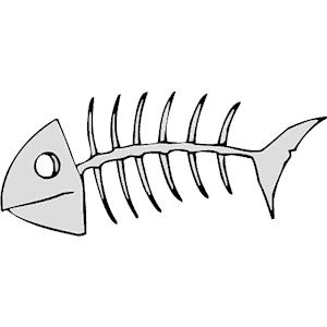 Fish Skeleton Clipart.