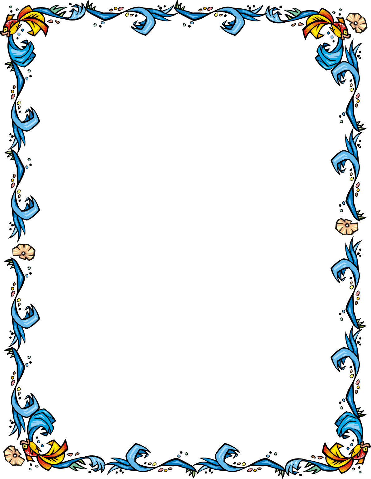 Fish border clipart clipart images gallery for free download.