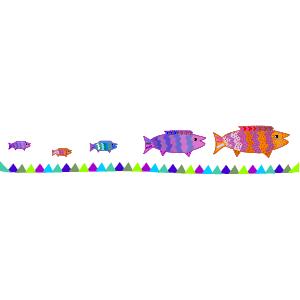 Fish Border 2 clipart, cliparts of Fish Border 2 free download (wmf.
