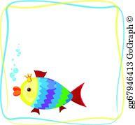 Fish Frame Border Clip Art.