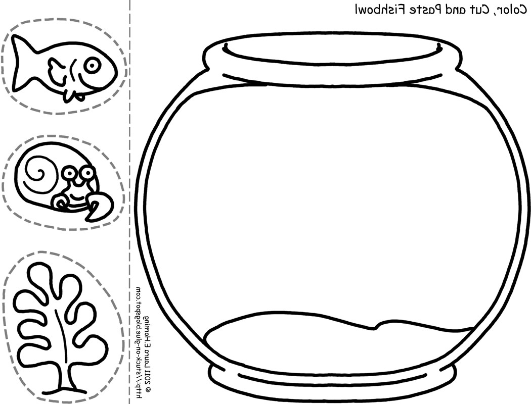 Fish bowl clipart black and white 6 » Clipart Station.