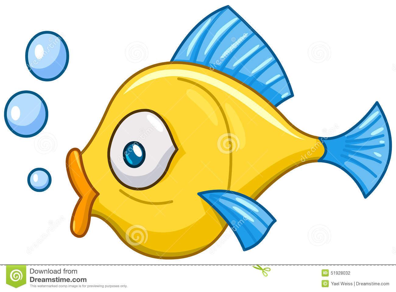 Cute fish bubbles clipart.
