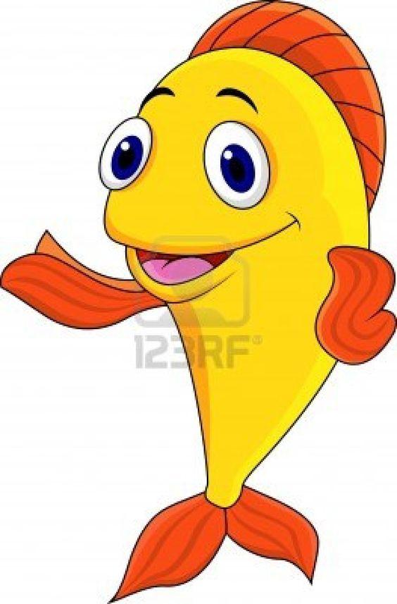 Happy Cartoon Fish.