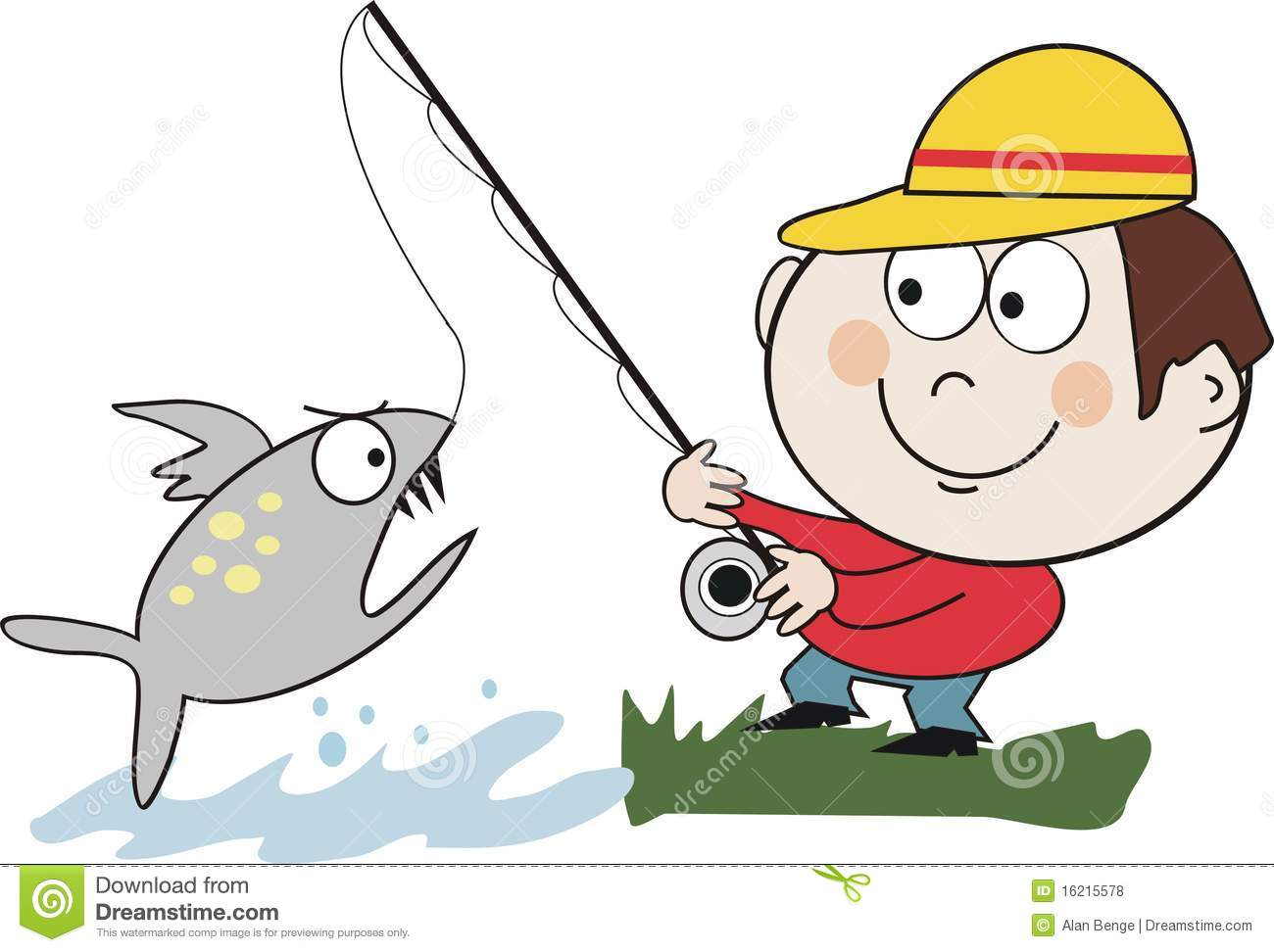 Catching Fish Clipart.