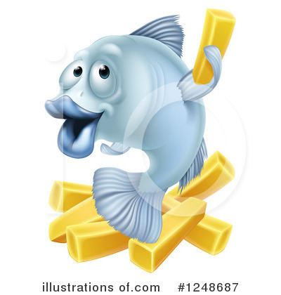 Fish And Chips Clipart #1248687.