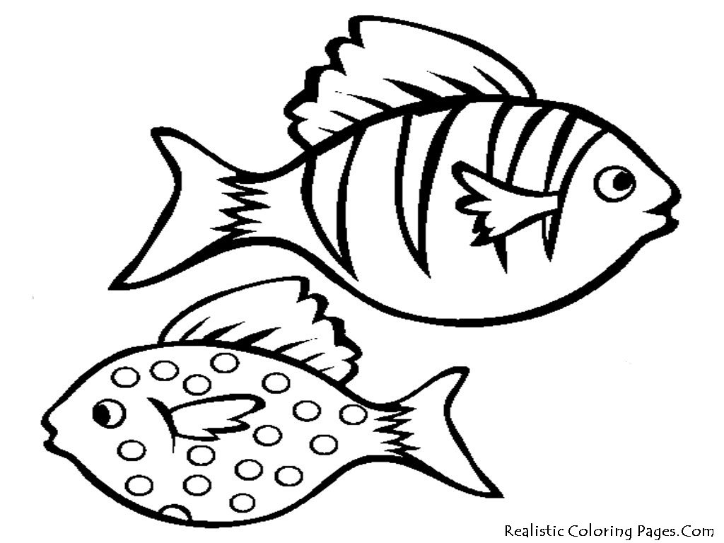 Coloring Pages : Cartoon Fish Drawings Free Printable Coloring Pages.