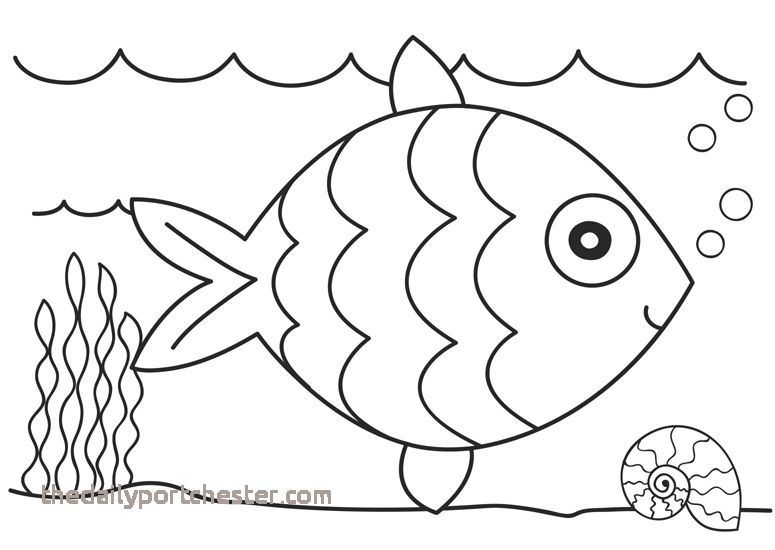 Fish Coloring Pages Lovely Free Coloring Page Fish New New Flower.