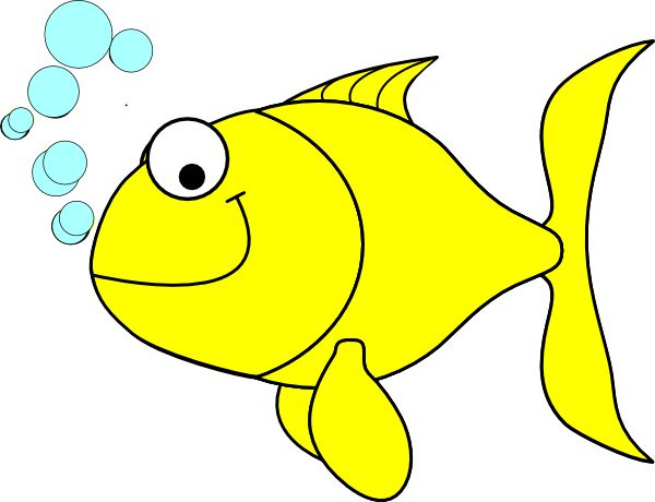 Simple Fish Clip Art.