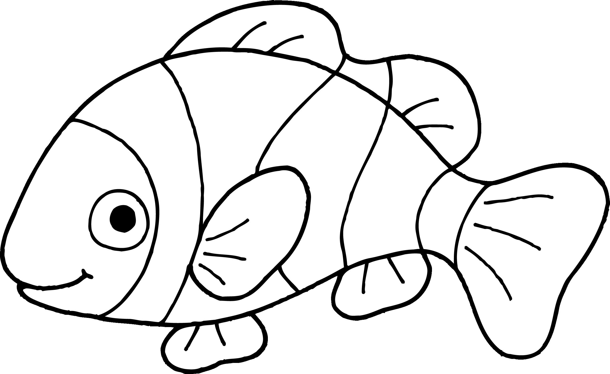 Clownfish Clip Art Fish Clipart Outline 5.