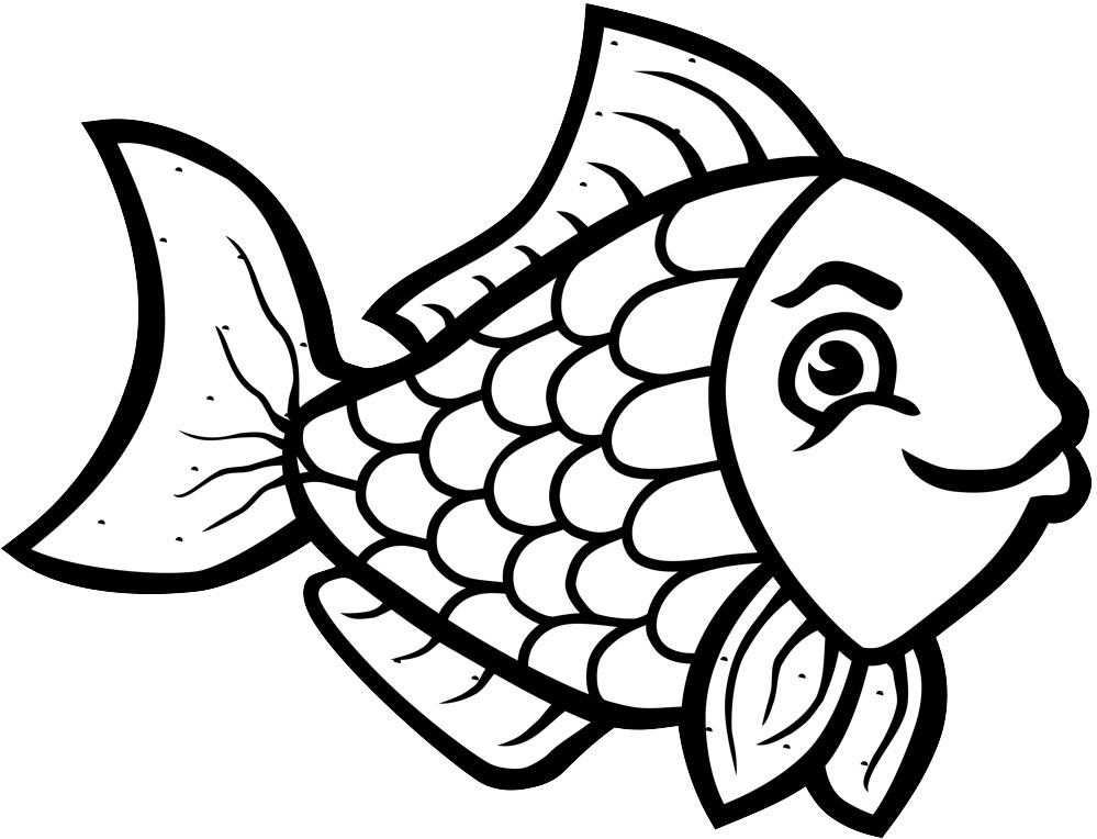 Animal Fish Black And White Clipart.