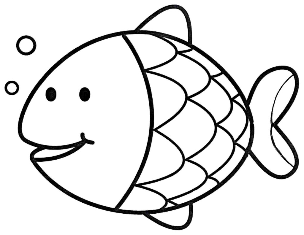 Printable Coloring Pages Of Fish.