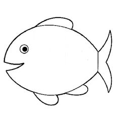 Fish Coloring Pages For Toddlers.