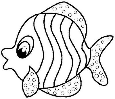 Fish coloring pages.