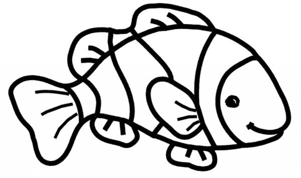 Clown Fish Coloring Page 43952.