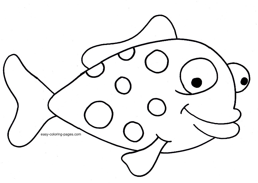 Fish Clipart Coloring.