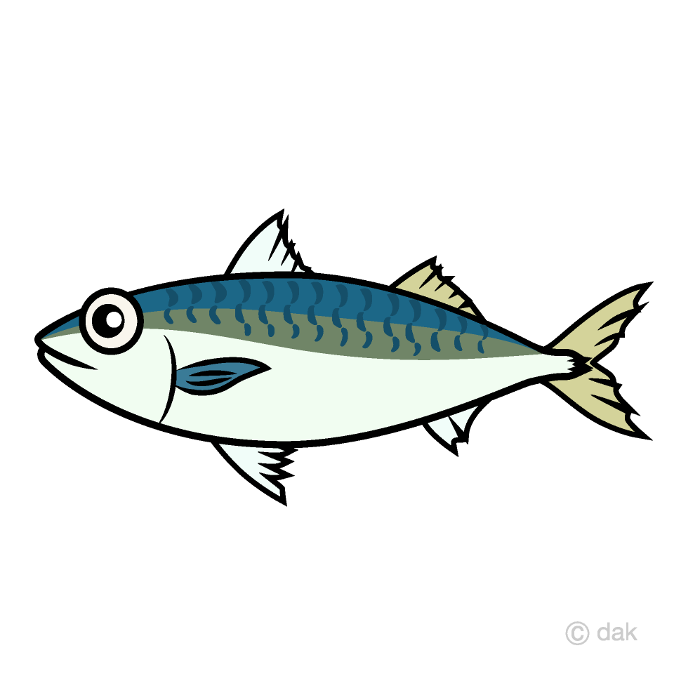 Free Mackerel Fish Clipart Image|Illustoon.