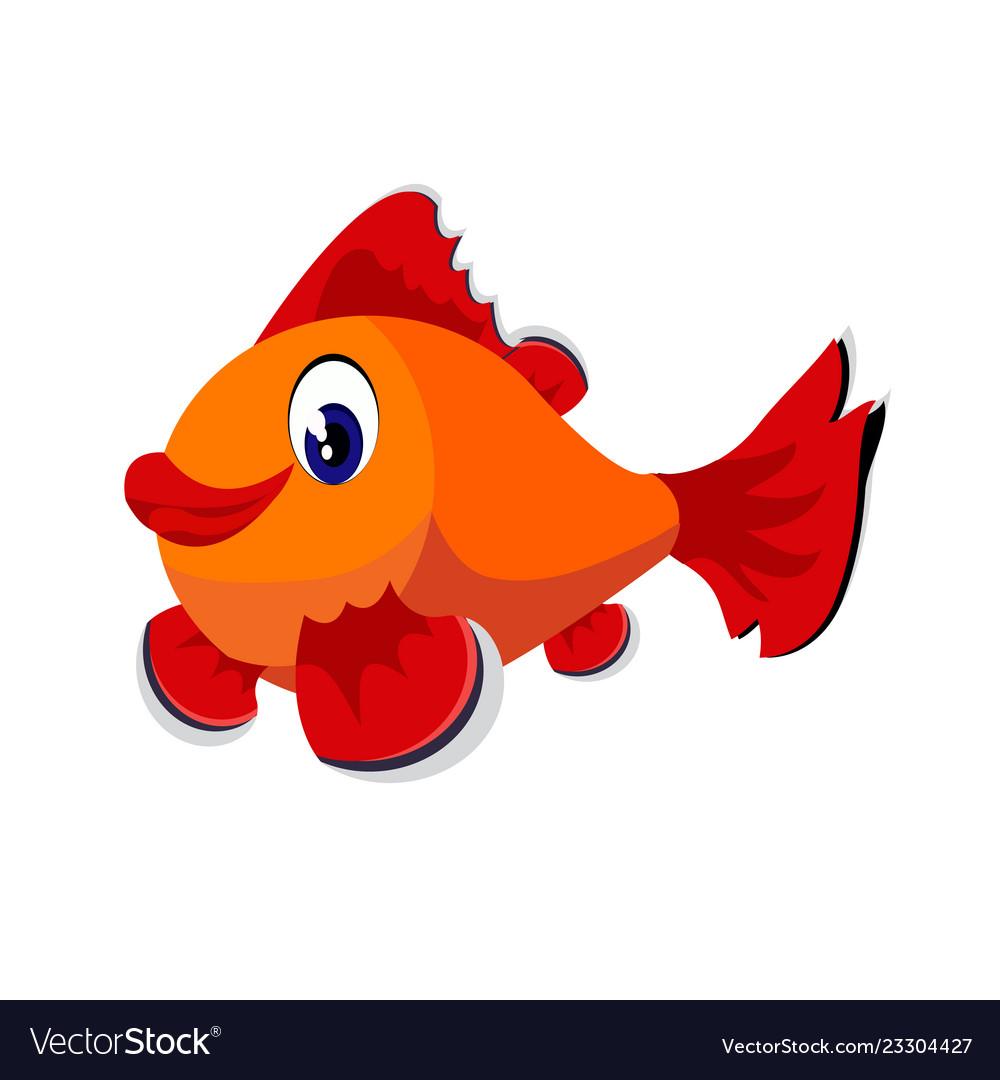 Fish cartoon or fish clipart cartoon isolated on.