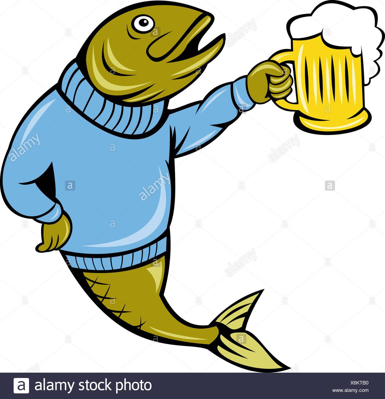drink drinking bibs fish beer bottle herring cartoon lager drink.