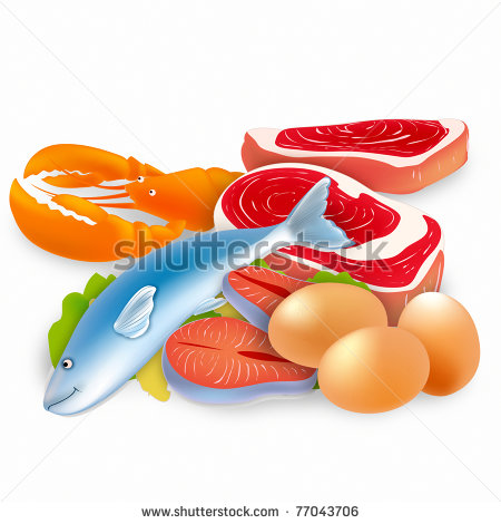 Meat Eggs Nuts Clipart.