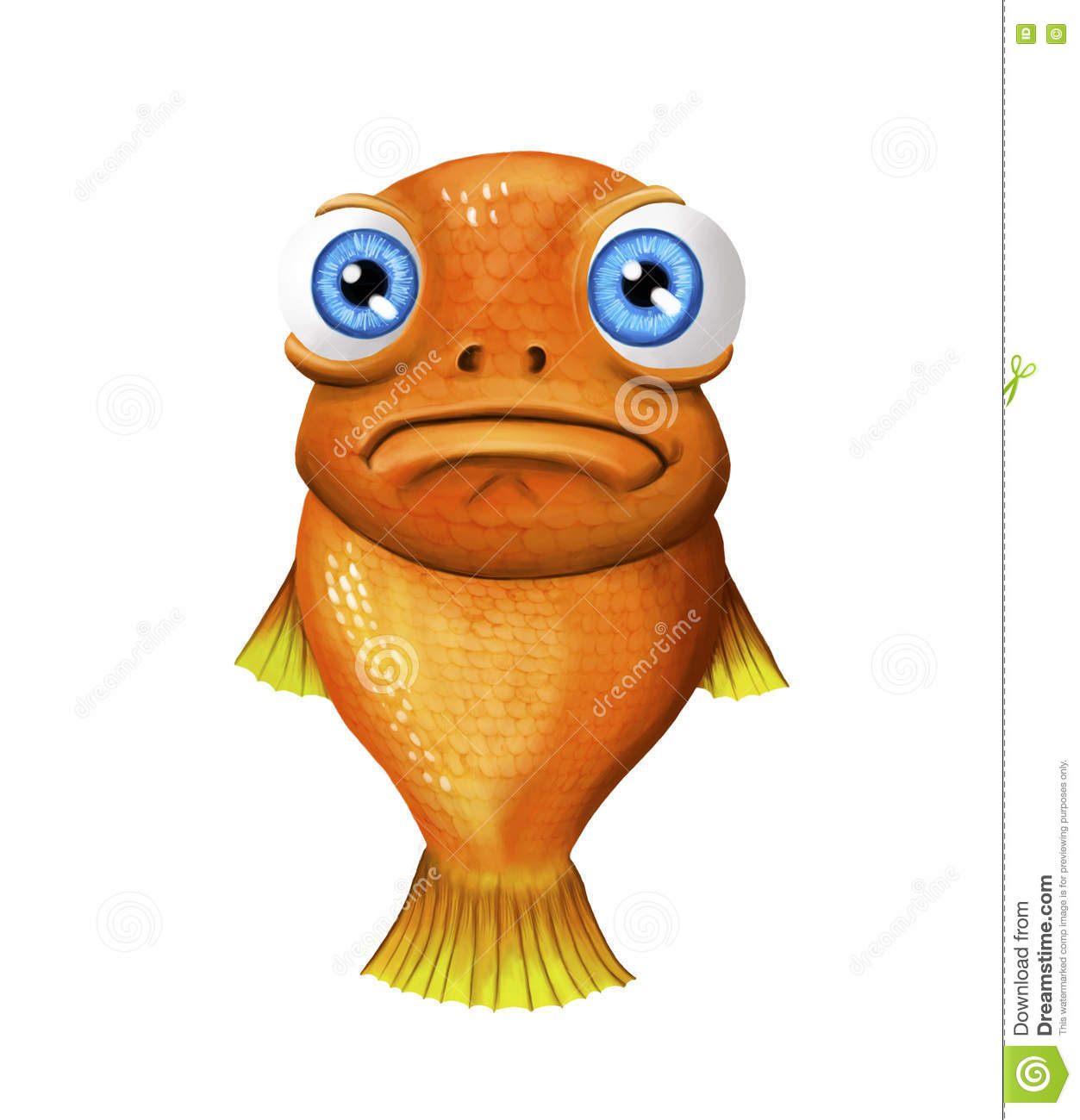 Fishface stock illustration. Illustration of lost, painting.