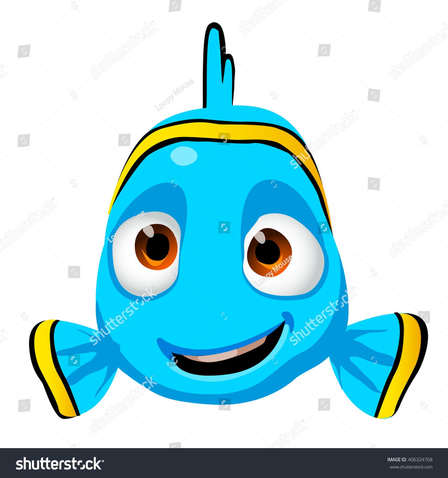 Cute Cartoon Kid Fish Character Isolated Stock Vector (Royalty Free.