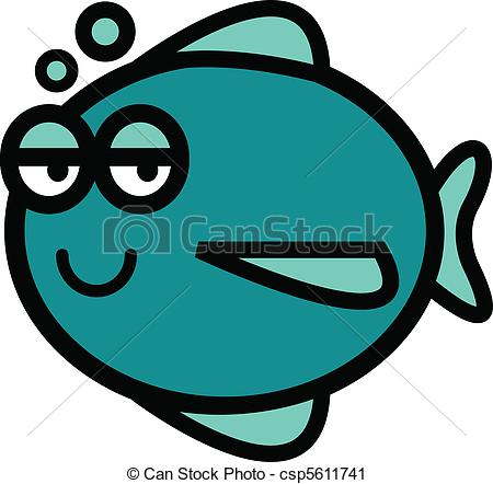 Fish with happy face.