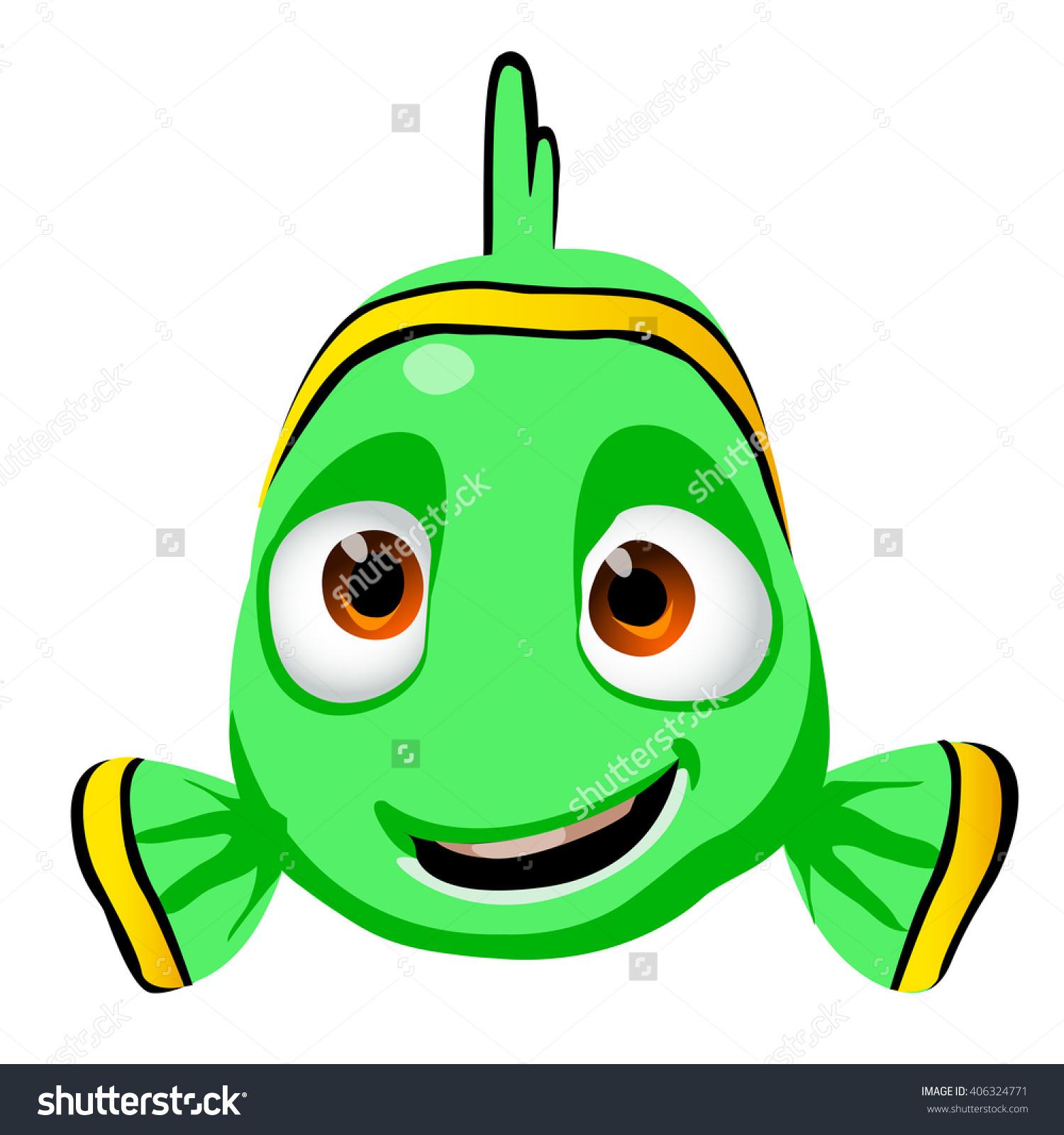 Cute Cartoon Kid Fish Character Isolated Stock Vector 406324771.