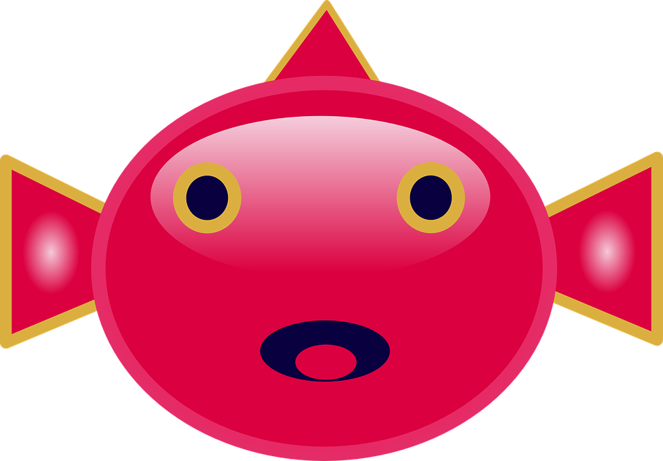 Free vector graphic: Fish, Mouth, Eyes, Red, Face.