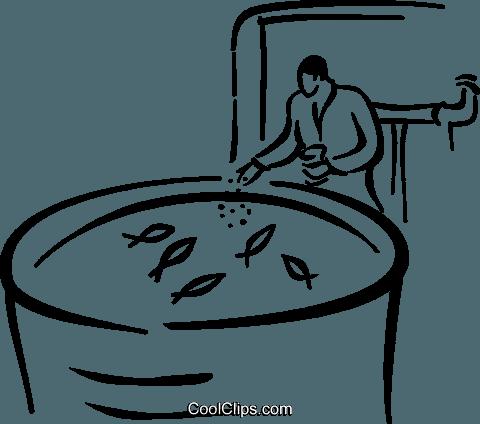 fish farm Royalty Free Vector Clip Art illustration.