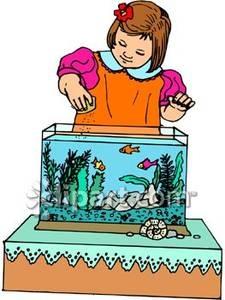 Feeding Fish Clipart.