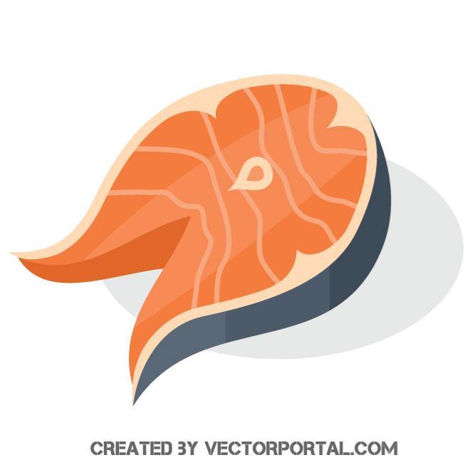 Fish fillet vector graphics.