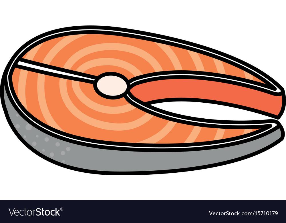 Fish steak fillet icon.