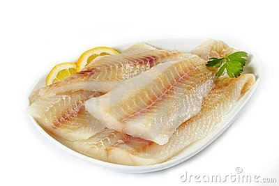 Raw Fish Fillet Royalty Free Stock Photography.