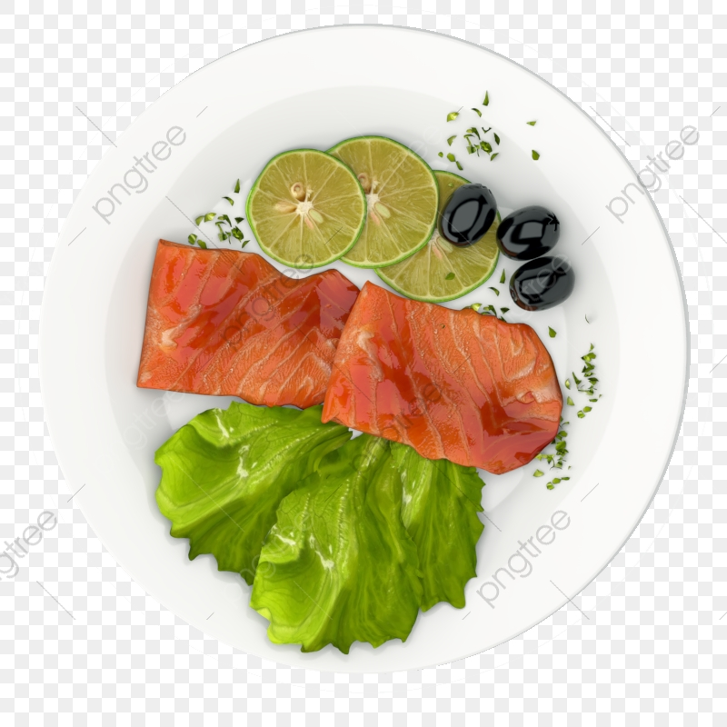 3d Realistic Food Fish Dish For Dinner 3, Food, Fish, Bacon PNG.