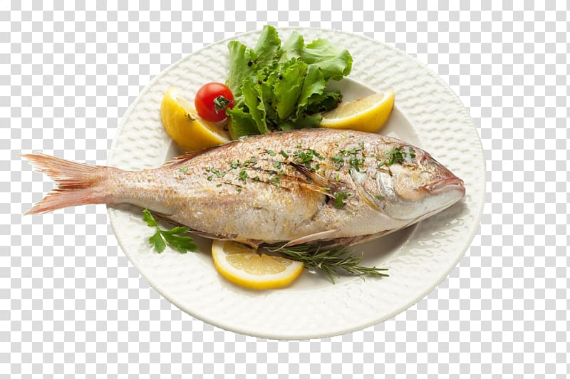 Cooked fish with vegetables, Fried fish Seafood Fish as food Health.