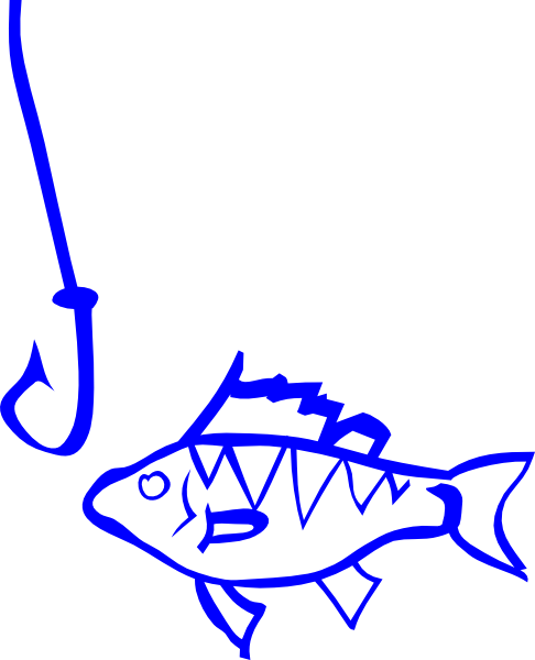 Cute Fishing Hook Clipart.