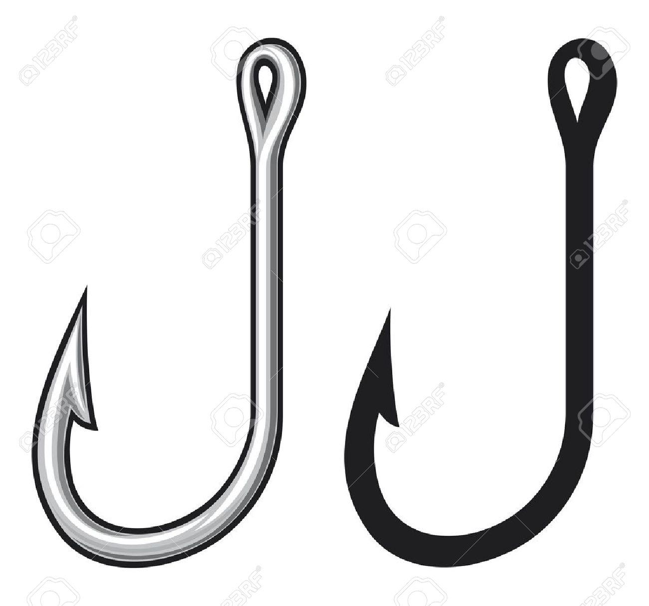 Fish hook clip art.