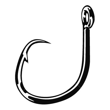 Fish hook clip art.