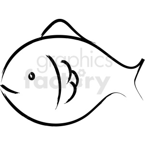 fish drawing vector icon clipart. Royalty.